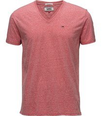 tjm original triblend v neck tee t-shirts short-sleeved rosa tommy jeans