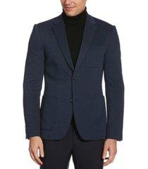 perry ellis men's slim fit knit textured stretch jacket