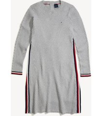 tommy hilfiger women's adaptive icon stripe dress grey heather/ multi - xxl