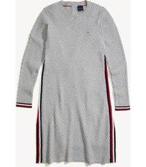 tommy hilfiger women's adaptive icon stripe dress grey heather/ multi - xxl