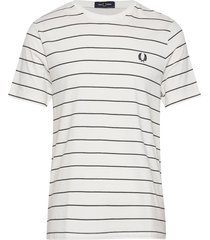 fine stripe t-shirt t-shirts short-sleeved vit fred perry