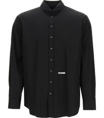 dsquared2 poplin shirt with logo embroidery