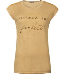 "geisha 92545-60 735 t-shirt sl ""no one is perfect"" camel"