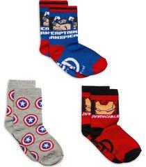 socks by x3 night & underwear socks multi/mönstrad marvel