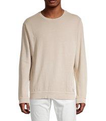 onia men's garment dye sweatshirt - baked clay - size xxl