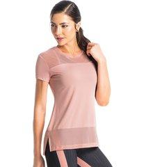 camiseta com tela blend