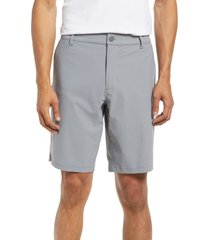 rhone flat front resort shorts, size 38 in smoked pearl at nordstrom