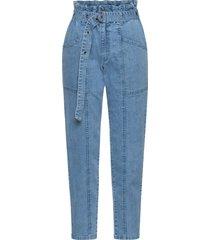 jeans cargo con impunture modellanti (blu) - rainbow