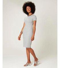 vestido malwee viscose canelada feminino - feminino