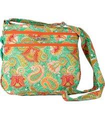 bolsa carteiro tecido transversal  matelassê casual verde