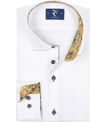 r2 shirt wit met print in boord