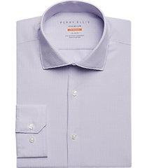 perry ellis premium lilac dobby check tech dress shirt