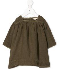 caramel wimbledon buttoned dress - green