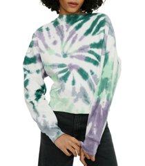 eleven paris cotton tie-dye print sweatshirt