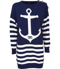 elisabetta franchi knitted dress