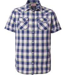 overhemd korte mouwen blauw