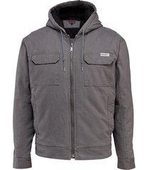 wolverine men's lockhart jacket granite, size l