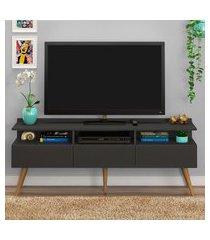 rack retrô para tv até 50 pol fellicci móveis paris 3 portas