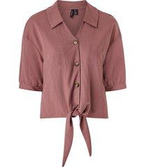 blus vmchloe 2/4 tie shirt