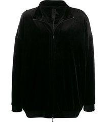 bernhard willhelm velvet panelled sports jacket - black