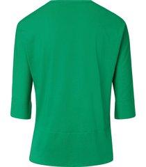 shirt van 100% pima cotton met ronde hals van peter hahn groen