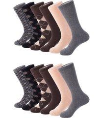 mio marino men's modern collection dress socks pack of 12