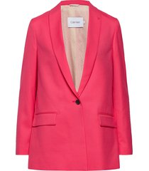 coloured suit long b blazer kavaj rosa calvin klein