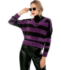 saco morado-negro glamorous