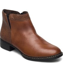 73484-24 shoes boots ankle boots ankle boot - flat brun rieker