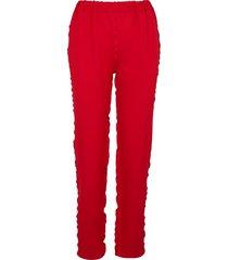 spodnie w kolorze czerwonym