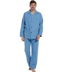 heren pyjama flannel robson 27202-701-6 blauw-3xl/58