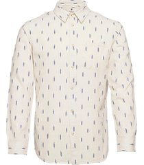 aklouis ls ikkat overhemd casual crème anerkjendt