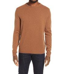 men's nordstrom cashmere crewneck sweater, size xx-large - brown