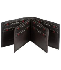 champs genuine leather rfid blocking double center wallet