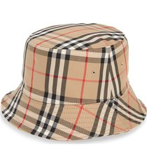 burberry heavy check bucket hat, size medium in archive beige at nordstrom