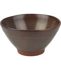 bowl rãºstico marrom tigela em cerã¢mica kasa ideia - multicolorido - dafiti