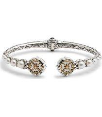 women's konstantino hestia pearl hinge cuff bracelet
