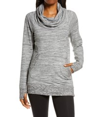 women's l.l.bean cozy cowl neck pullover, size x-large - grey
