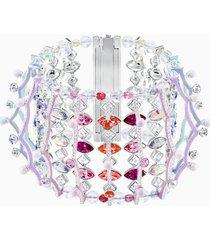 braccialetto neon, multicolore, placcatura rodio
