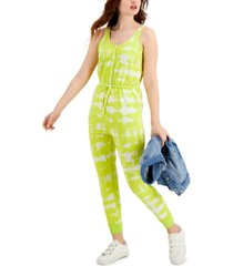 style & co petite printed drawstring-waist jumpsuit, created for macy's