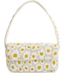 staud tommy floral beaded shoulder bag -