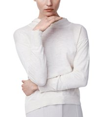 b new york cotton heathered gauze knit hoodie