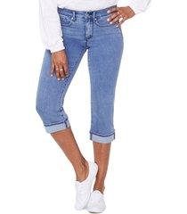 women's nydj marilyn cool embrace straight crop jeans