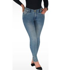 pantalón jeans dama denim azul di bello jeans ® classic jeans j134