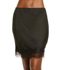 women's honeydew intimates lace half slip, size x-small - black