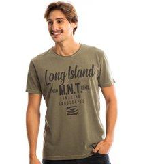 camiseta long island mnt verde oliva - verde militar - masculino - dafiti