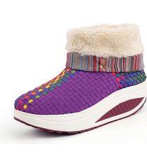 scarpe invernali a dondolo con zeppa
