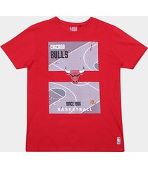 camiseta nba court chicago bulls masculina