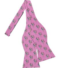 tommy hilfiger pink horseshoe pattern self-tie bow tie