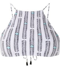lygia & nanny ilana crop bikini top - white